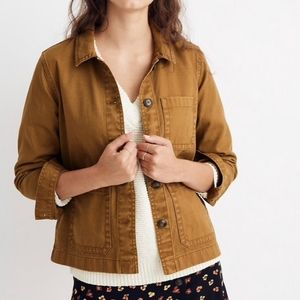 Madewell Ashwood Brown Button Down Chore Coat